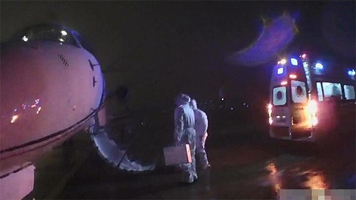 İstanbul'dan gönderilen Çinli kadın uçaktan iner inmez ambulansa alındı