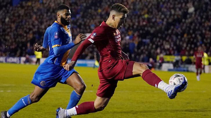 FA Kupası'nda Liverpool, 3. lig ekibi Shrewsbury Town ile berabere  kaldı