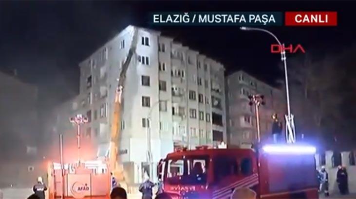 Anons yapılmıştı... Elazığ'daki riskli binanın yıkımına başlandı