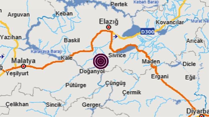 Son dakika haberi... Elazığ'da 4.2 büyüklüğünde deprem