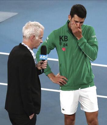 Djokovic gözyaşlarını tutamadı! Kobe Bryant...