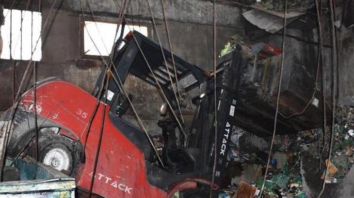 İş yerinin tavanı çöktü! Faciadan dönüldü