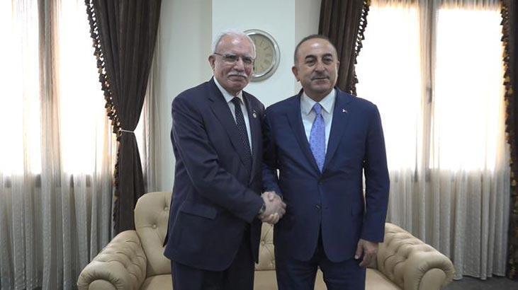 Son dakika haberi... Bakan Çavuşoğlu, Filistinli mevkidaşıyla görüştü
