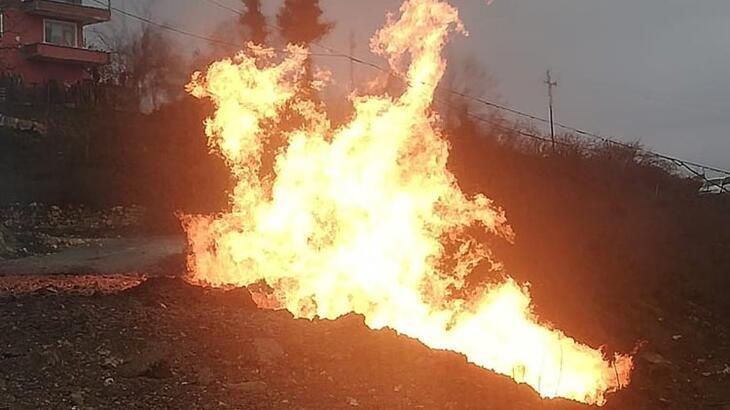 Ordu'da doğal gaz hattı patladı!