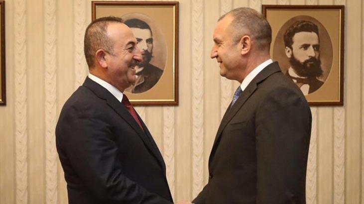 Bakan Çavuşoğlu, Bulgaristan Cumhurbaşkanı Radev tarafından kabul  edildi