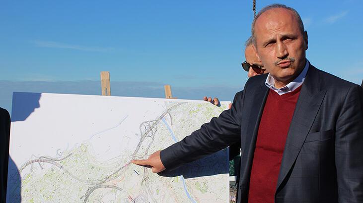 Bakan Turhan: Zigana Tüneli'nde kazı çalışmalarının yüzde 65'i tamamlandı
