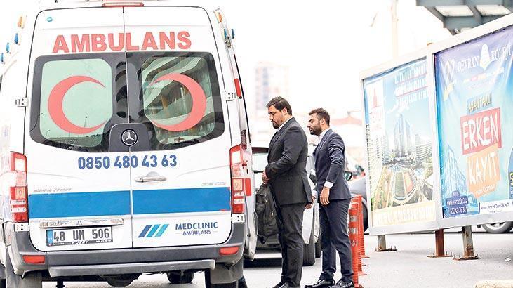 VIP ambulans! Hastaya 400 patrona 700