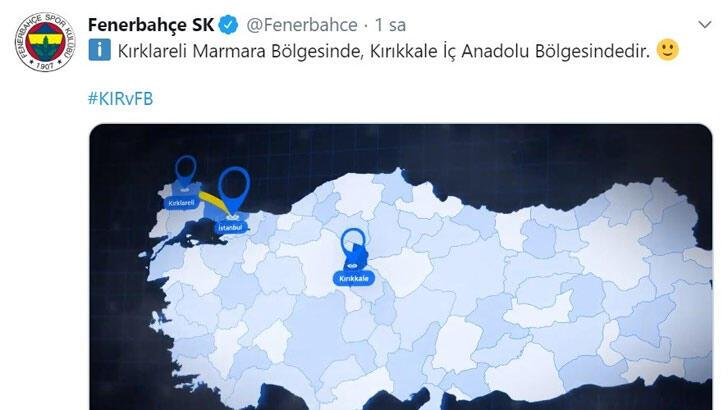 Fenerbahçe'den coğrafya dersi