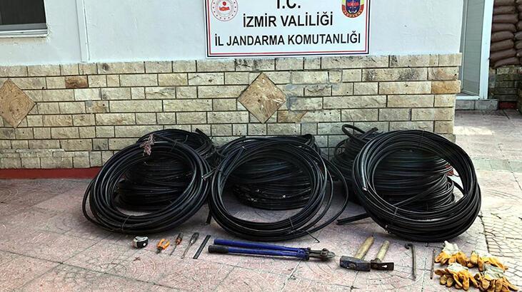 11 bin liralık kablo çalan 3 şüpheli tutuklandı