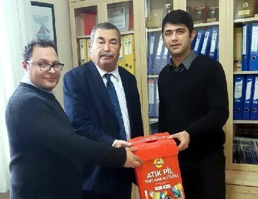 Bodrum'da okullar arası 'ödüllü atık pil toplama' kampanyası