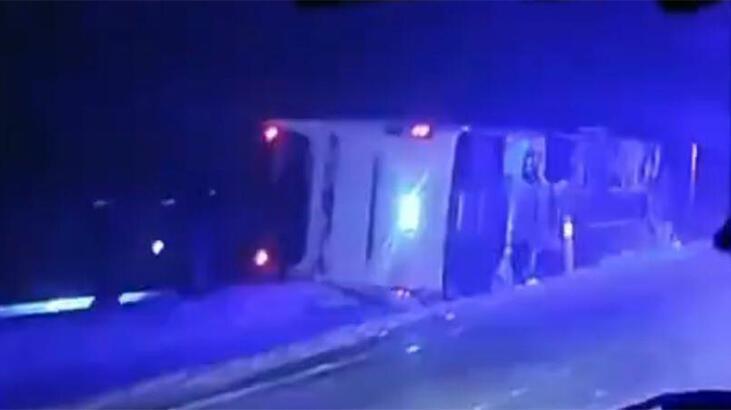Son dakika haberleri | Nevşehir'de yolcu otobüsü devrildi! Yaralılar var