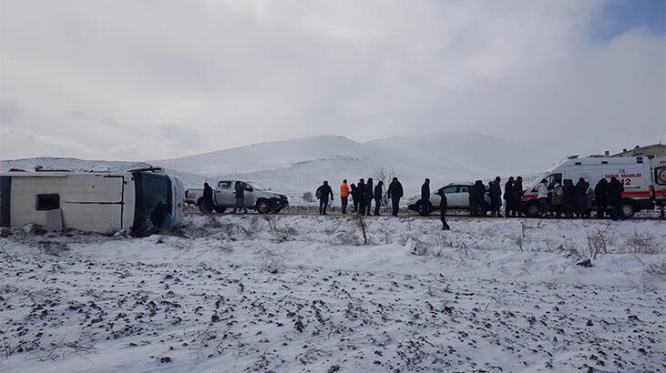 Son dakika... Kayseri'de otobüs devrildi! Çok sayıda yaralı var