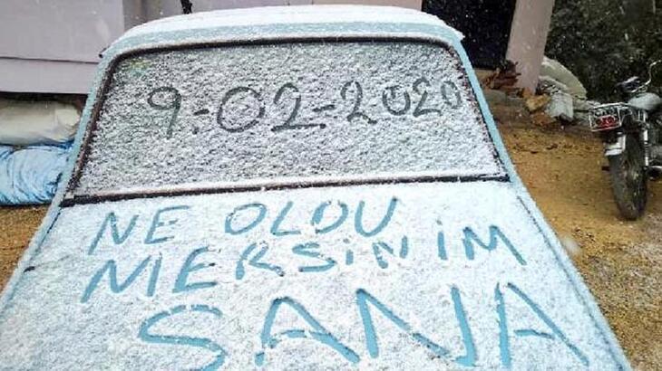5 yıl sonra Mersin'e kar yağdı!