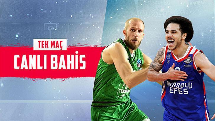 Darüşşafaka Tekfen-Anadolu Efes maçı canlı bahisle Misli.com'da