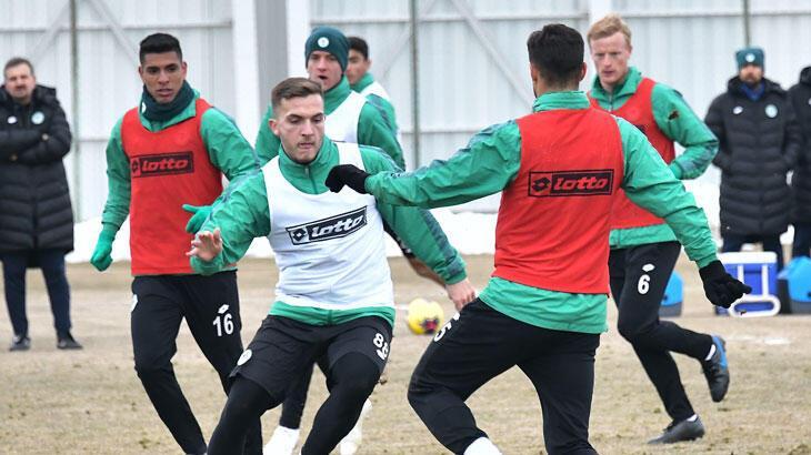 Konyaspor, Göztepe maçının hazırlıklarını sürdürdü