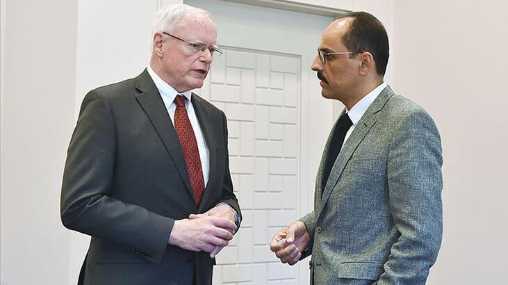 Cumhurbaşkanlığı Sözcüsü İbrahim Kalın, James Jeffrey ile görüştü
