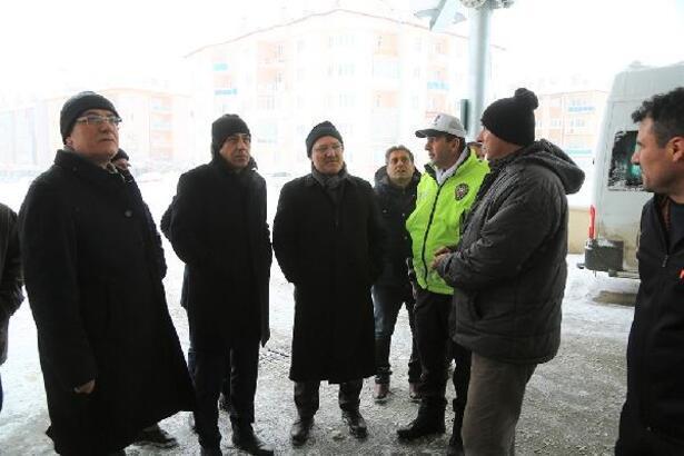 Başkan Bilgin, karla mücadele çalışmalarını takip etti