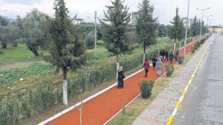 Büyükşehir'den modern koşu yolu