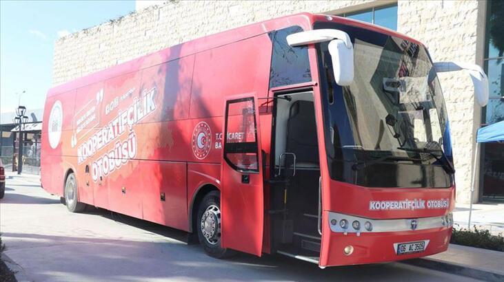 'Kırmızı otobüs' kooperatifçiliği anlatmak için yollarda