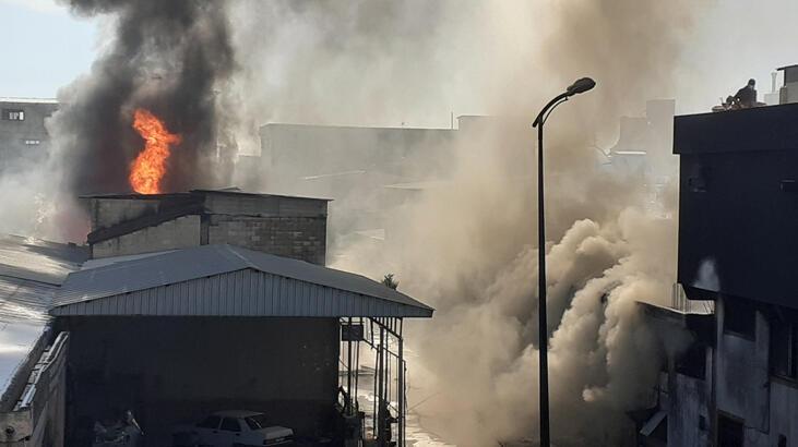 Gaziantep'te boya ve tiner atölyesinde yangın!