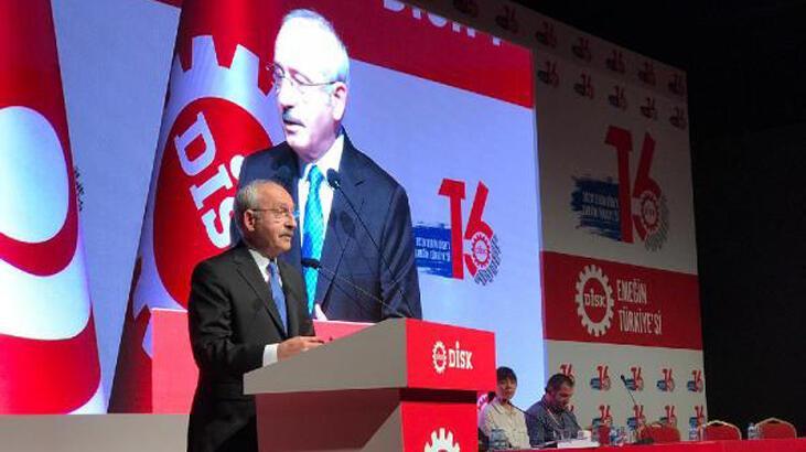 Kılıçdaroğlu, DİSK genel kurulunda konuştu