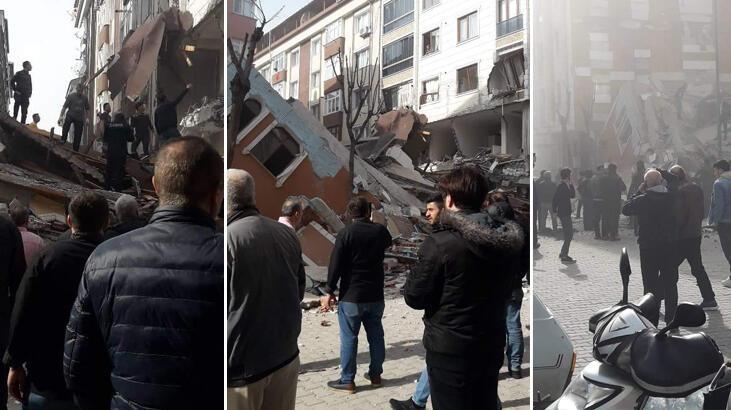 Son dakika haberleri | İstanbul Bahçelievler'de 7 katlı bina çöktü!