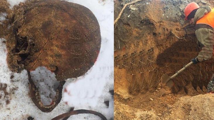 Kavşak yapımı sırasında mafya üyelerinin iskeletleri ortaya çıktı!