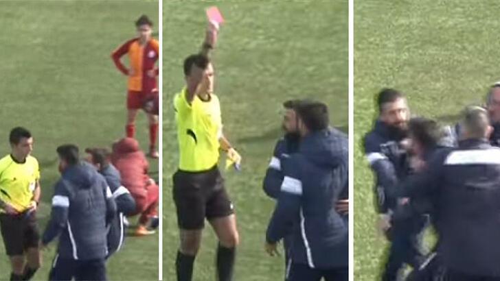 Galatasaray U14-Başakşehir U14 maçında gergin anlar