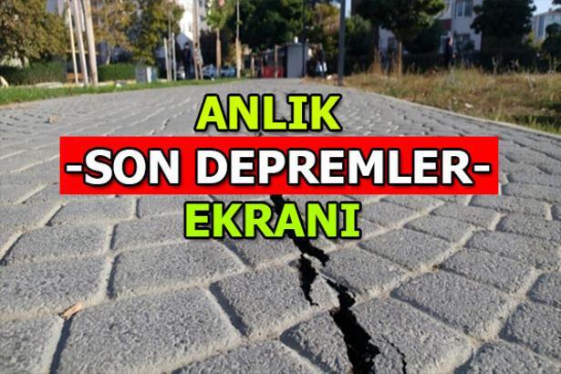 Son depremler listesi   En son nerede, kaç şiddetinde deprem oldu? 17 Şubat Pazartesi