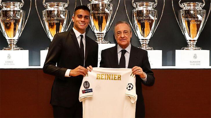 Real Madrid, yeni transferi Reinier'i basına tanıttı