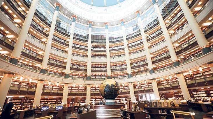 Ata'nın kitapları dev kütüphanede