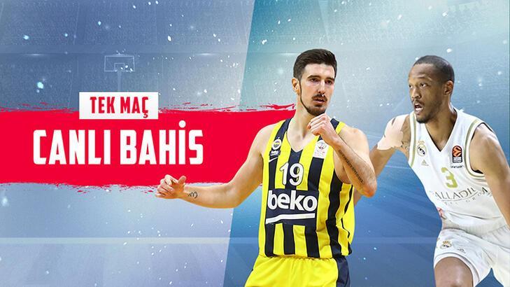 Fenerbahçe Beko - Real Madrid maçı canlı bahis heyecanı Misli.com'da