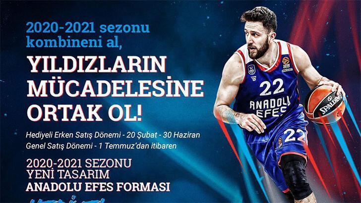 Anadolu Efes'in 2020 - 2021 sezonu kombineleri satışta