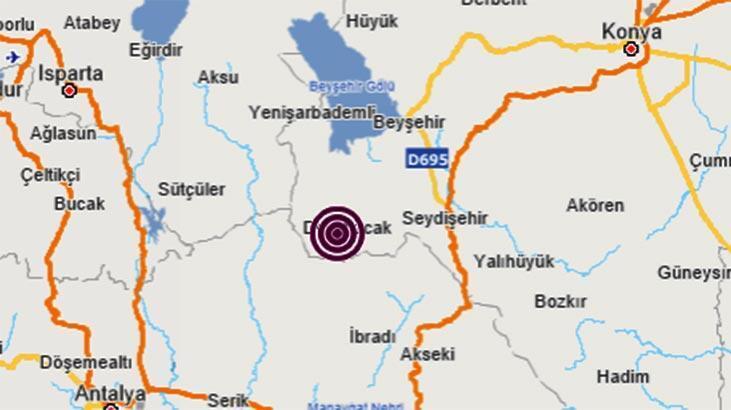 Son dakika | Konya'da korkutan deprem! Antalya - Isparta da hissetti