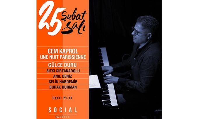 Social Jazz Bar'da Parizyen bir gece