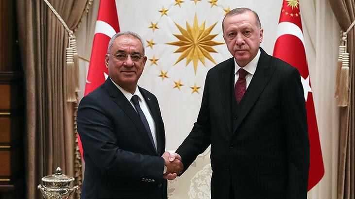 Cumhurbaşkanı Erdoğan, Önder Aksakal'ı kabul etti