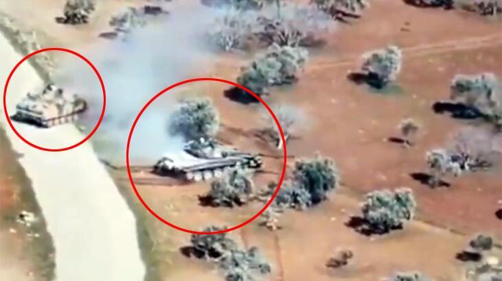 Son dakika... Rejim tankı böyle kaçtı! Türk zırhlısı rejim tankını kovalarken...