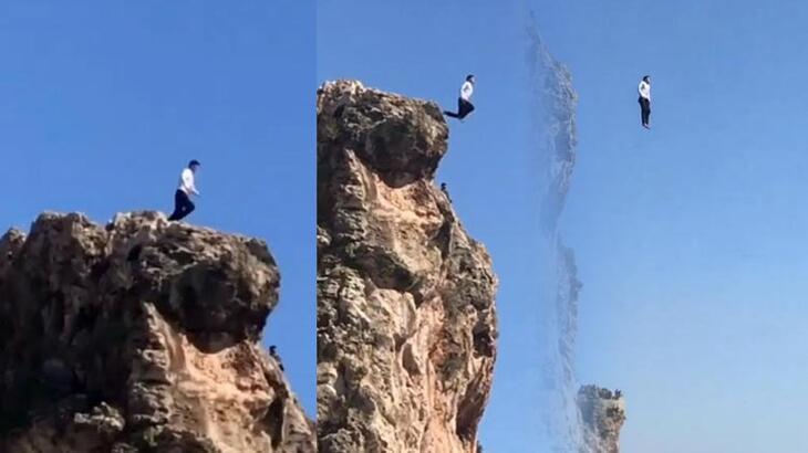 40 metreden çivileme denize atladı!