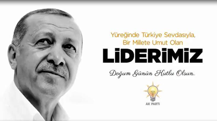 AK Parti Grubu'ndan Erdoğan'a klipli doğum günü kutlaması
