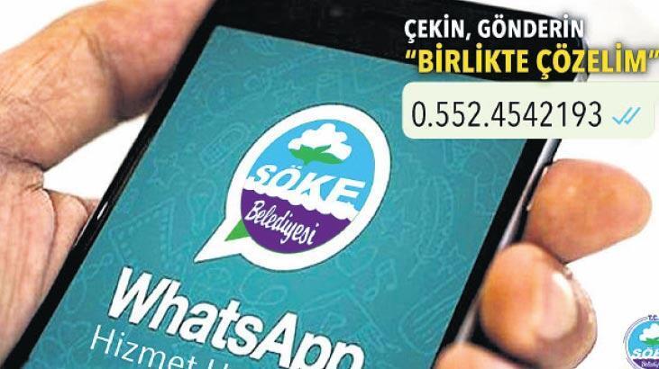 WhatsApp hizmet hattı faaliyete girdi