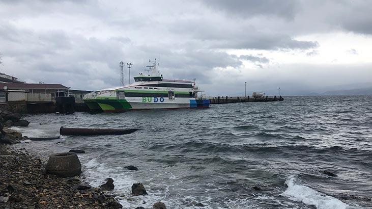 Son dakika haberi... Deniz otobüsü seferleri iptal edildi