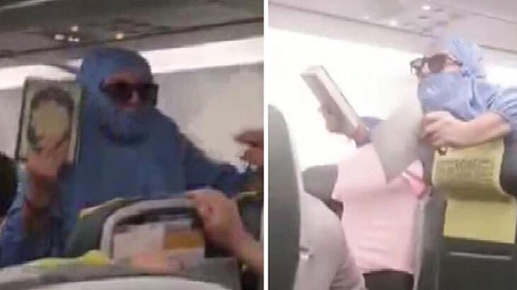 Uçakta taşkınlık yaptığı gerekçesiyle tutuklu yargılanan kadın tahliye edildi