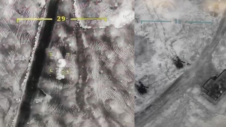İdlib'deki operasyondan son görüntüler! Böyle vuruldular...