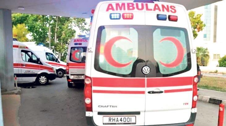 112'ye 5 ambulans hibe edildi