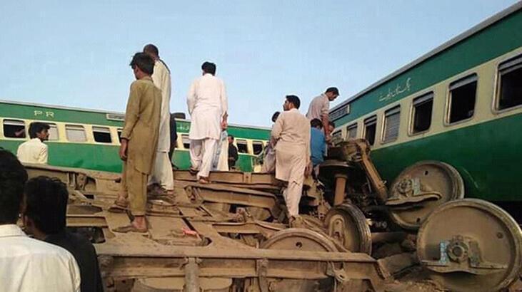 Pakistan'da tren ve otobüs çarpıştı: 18 ölü, 55 yaralı