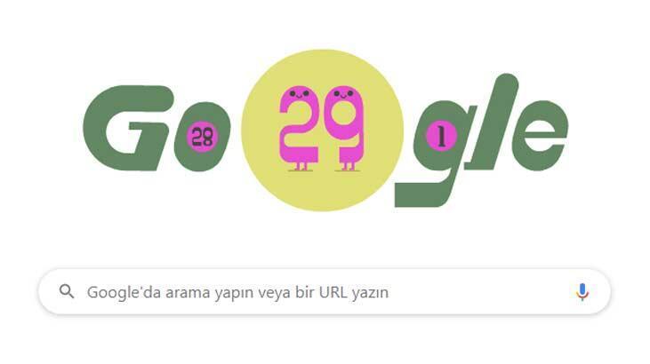 Google'dan 29 Şubat doodle'ı