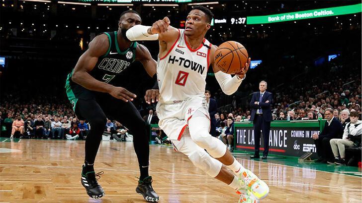 Westbrook yıldızlaştı, Rockets uzatmada kazandı: 111-110