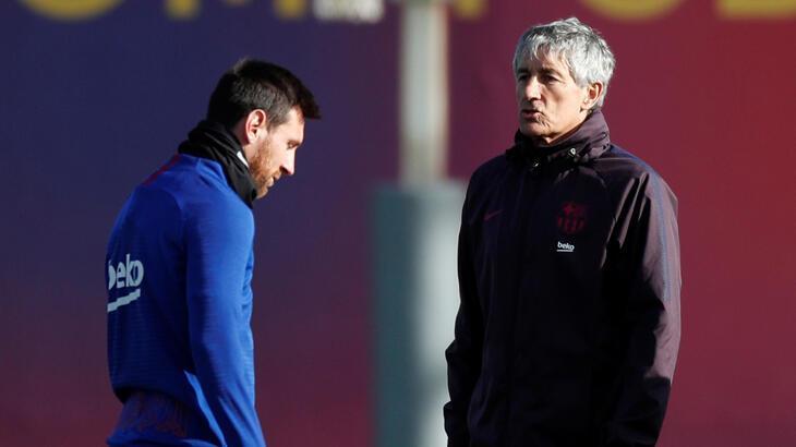 Barcelona'nın teknik direktörü Messi