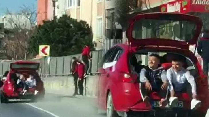 İstanbul'un göbeğinde tehlikeli yolculuk!