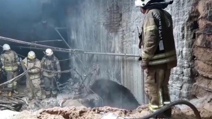 Tarihi hamamda yangın paniği!